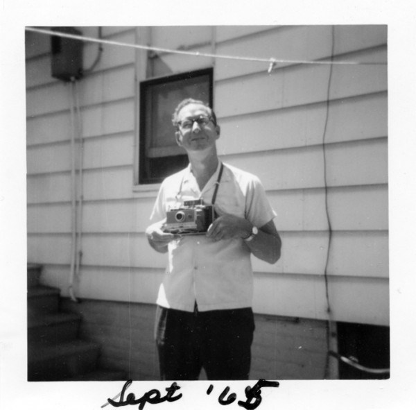 Bruce Montney, my dad, with Polaroid Land camera, Sept. '65